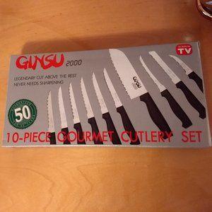 New GINSU 2000 10-piece  Knife Set.